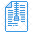 Zip Compressed Sheet Icon