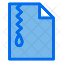 Zip Filed Document Icon