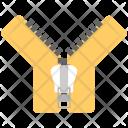 Open Zip Zipper Icon