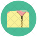 Zipped Folder Data Icon