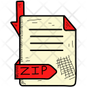 Zip Document Format Icon