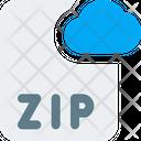 Zip Cloud File Online Zip File Cloud File Icon