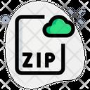 Zip Cloud File Icon