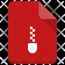 Zip File Document Icon