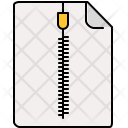 Zipped Document File Icon