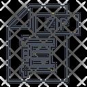 Zip Extension Archive Icon