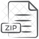 Zip File Compressed File Document Icon