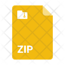 Document Format Zip Icon