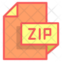 Zip File Format File Icon