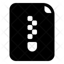 Comressed Data File Zip Icon