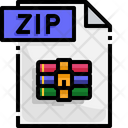Zip File Zip File Format Icon