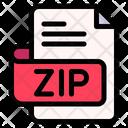 Zip File Type File Format Icon