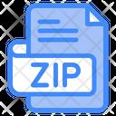 Zip Document File Icon