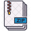 Compact Compressed Document Icon