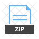 Zip File Extension Icon
