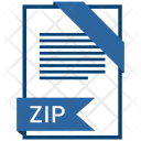 Zip Format Document Icon