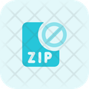 Zip File Banned Zip Banned File Banned Icon