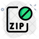 Zip File Banned Icon