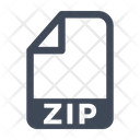 Zip File Document Icon