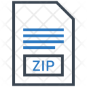 Zip Document File Icon