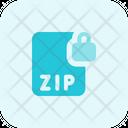 Zip File Lock Zip Lock File Lock Icon