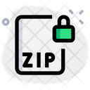 Zip File Lock Icon