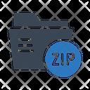 Zip Folder Document Icon
