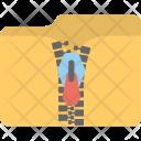 Zip Locked Zipped Icon
