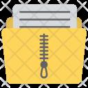 Zip Folder Locked Icon