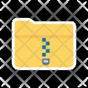 Folder Zip Office Icon