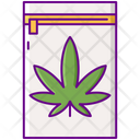 Zip Of Cannabis Icon