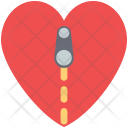 Zip on heart Icon