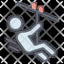 Zipline Aerial Runway Ropeway Icon