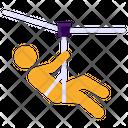Zipline Flying Fox Adventure Sports Icon