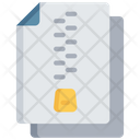 Zipped Document Icon