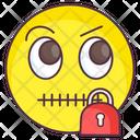 Zipped Emoji Zipped Expression Emotag Icon
