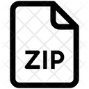 Zip File Zipped File Icon