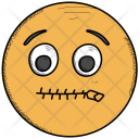 Zipped mouth Icon