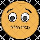 Sealed Lips Smiley Icon