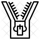Zipper Fabric Fasten Icon