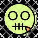 Zipper Mouth Icon
