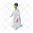 Zombie Dead Man Halloween Character Icon