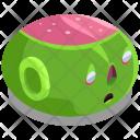 Zombie Head Devil Icon