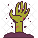 Zombie Hand Halloween Icon