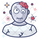 Zombie Spooky Face Scary Icon