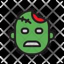 Zombie Pumpkin Clown Icon