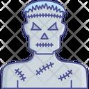 Evil Zombie Halloween Character Icon