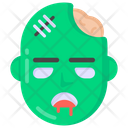 Zombie Scary Face Halloween Mask Icon