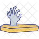 Evil Coming Out Zombie Hand Devil Concept Icon
