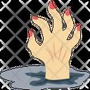 Zombie Hand Dead Man Grave Hand Icon